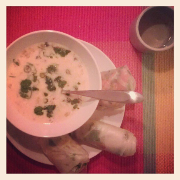 thai-soup-and-spring-rolls
